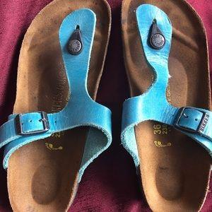 Birkenstock turquoise sandals